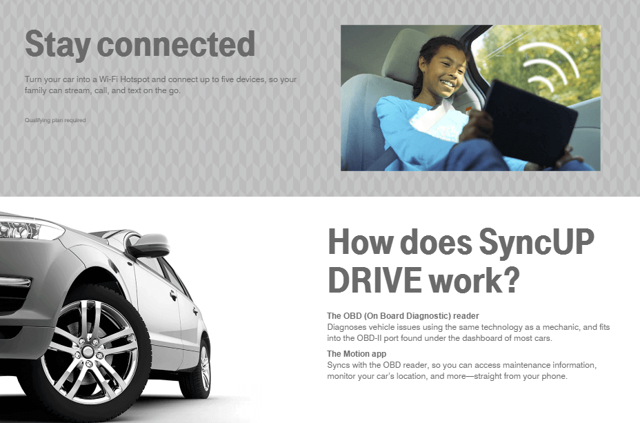 T Mobile Sync Up Drive Monitor Your Car Loved Ones via Your Mobile